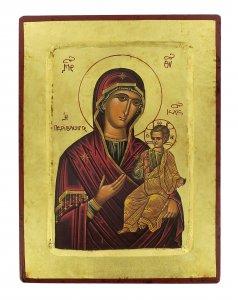Copertina di 'Icona Madonna con il Bambino, produzione greca su legno - 24 x 18 cm'