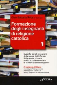 Copertina di 'Formazione degli insegnanti di religione cattolica'