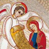 Immagine di 'Quadro stampa cm 10x15 - Annunciazione di Padre Rupnik'
