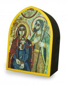 Copertina di 'Quadro cuspide cm 5,5 x 7,5 spessore cm 2,5 - Sacra Famiglia di Padre Rupnik'