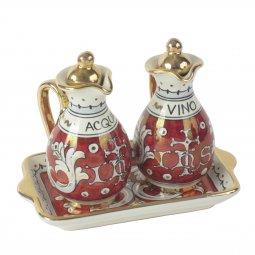 Copertina di 'Ampolline anfora in ceramica con simbolo IHS - Modello Rubino e oro'