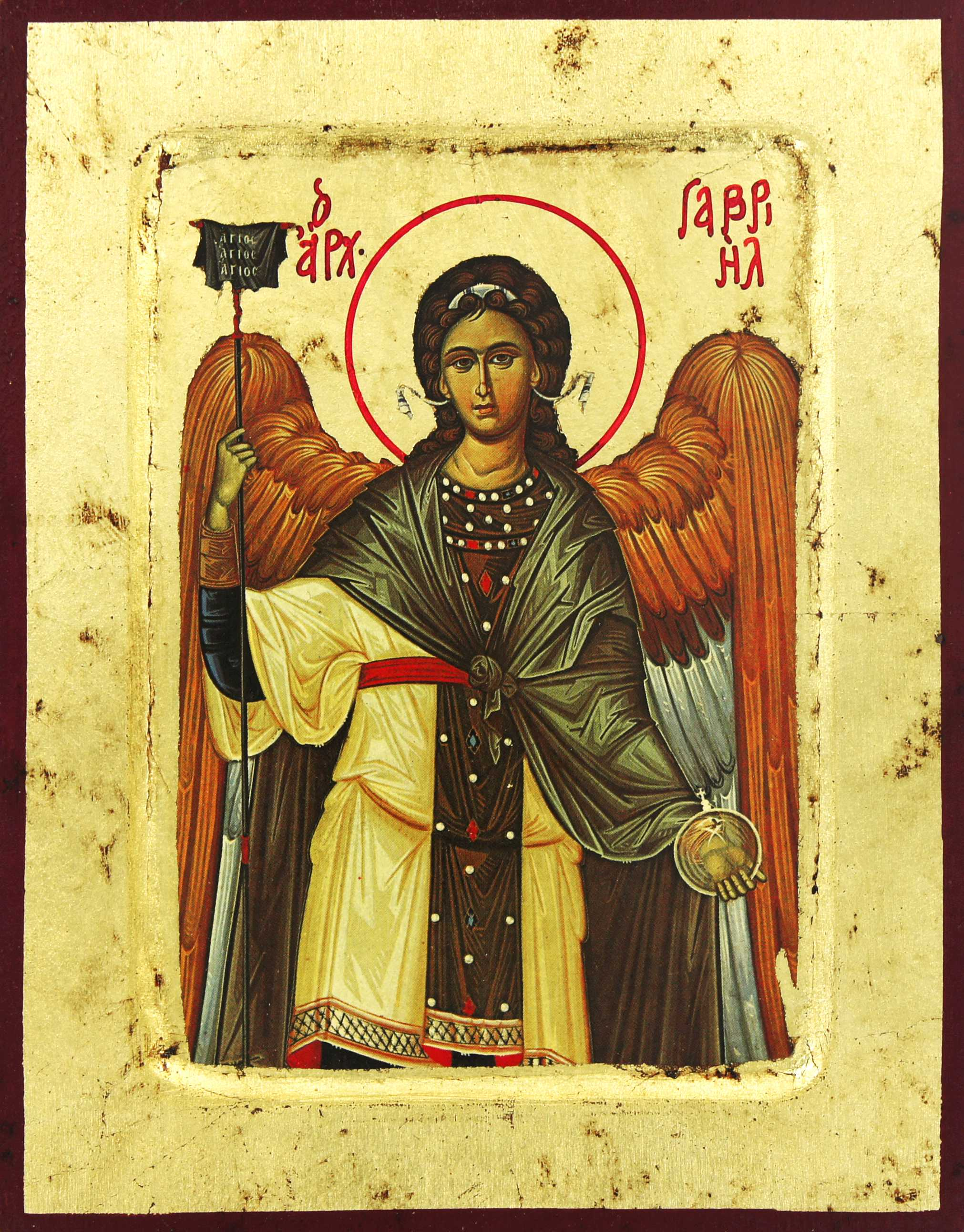 Estremamente Icona 'San Gabriele' su legno scavato cm 25x20, in legno, Icone  TA81