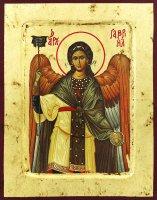 """Icona """"San Gabriele"""" su legno scavato cm 25x20"""