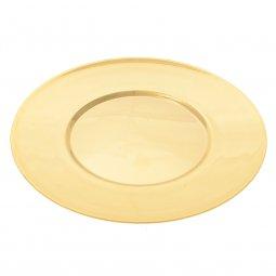 Copertina di 'Patena in ottone dorato con impronta - diametro 14 cm'
