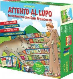 Copertina di 'Attento al lupo. In cammino con San Francesco. Con gadget'