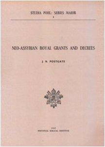 Copertina di 'Neo-Assyrian royal grants and decrees'