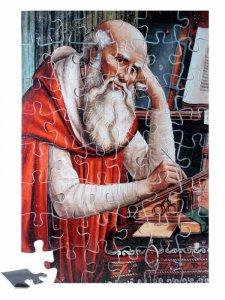 """Copertina di 'Puzzle """"San Girolamo nello studio"""" (48 pezzi)'"""