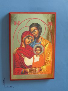 """Copertina di 'Icona """"Santa Famiglia"""" (cm 19,5 x 13,5)'"""