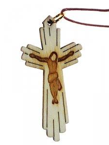 Copertina di 'Crocetta in legno con raggi - altezza 5 cm'