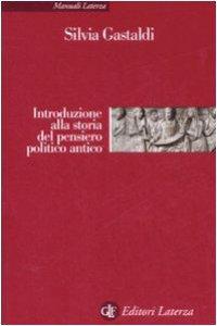 Copertina di 'Introduzione alla storia del pensiero politico antico'