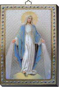 Copertina di 'Tavola Madonna Miracolosa stampa su legno - 10 x 14 cm'