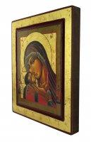 Immagine di 'Icona Madonna di Korsun, produzione greca su legno - 25 x 22 cm'