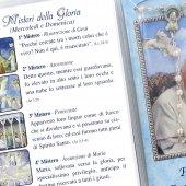 Immagine di 'Libretto Rosario con immagine di papa Francesco e coroncina'