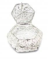 Portarosario in filigrana d'argento 925 a forma esagonale