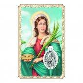 """Card """"Santa Lucia"""" con preghiera e medaglia - (10 pezzi)"""
