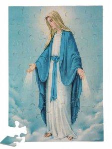 """Copertina di 'Puzzle """"Madonna della Medaglia Miracolosa"""" (48 pezzi)'"""