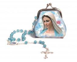 Copertina di 'Borsellino portarosario della Vergine Maria con coroncina'