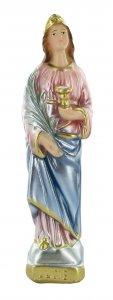 Copertina di 'Statua Santa Lucia in gesso madreperlato dipinta a mano - 20 cm'