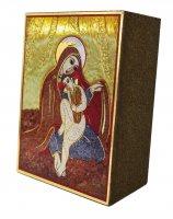 Immagine di 'Quadro Madonna delle Spighe Padre Rupnik stampa 5,5x7,5 cm - (Monza)'