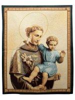 """Arazzo """"Sant'Antonio con Gesù Bambino"""" (65cm x 53cm)"""