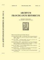 Die Priester unter den Franziskanerbrüdern vom Hl. Kreuz  (587-618) - Michael Ruedin