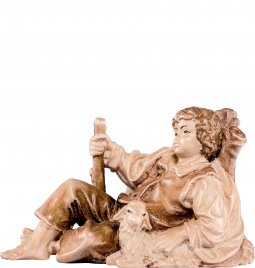 Copertina di 'Fanciullo sdraiato H.K. - Demetz - Deur - Statua in legno dipinta a mano. Altezza pari a 11 cm.'