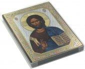 Immagine di 'Icona Cristo con Libro Aperto stampa su legno - 10 x 14 cm'