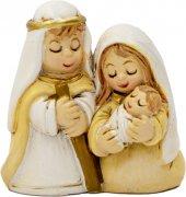 Natività in resina opaca con Gesù bambino in braccio a Maria - altezza 3,5 cm