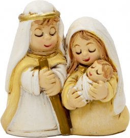 Copertina di 'Natività in resina opaca con Gesù bambino in braccio a Maria - altezza 3,5 cm'