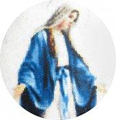 Immagine di 'Medaglia Madonna Miracolosa  ovale in argento 925 e porcellana - 3 cm'