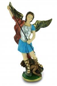 Copertina di 'Statua San Michele in gesso dipinta a mano - 40 cm'