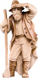 Copertina di 'Pastore con pala H.K. - Demetz - Deur - Statua in legno dipinta a mano. Altezza pari a 11 cm.'