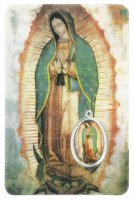 Card Madonna di Guadalupe in PVC - 5,5 x 8,5 cm - spagnolo