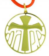 Immagine di 'Ciondolo in argento 925 dorato con simbolo Tau'