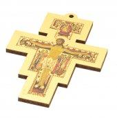 Croce di San Damiano in legno magnetica