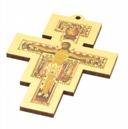 """Copertina di 'Croce in legno magnetica """"Croce di San Damiano"""" - dimensioni 9x6,5 cm'"""