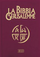 La Bibbia di Gerusalemme (copertina in pelle color rosso bordeaux e taglio oro - tascabile)