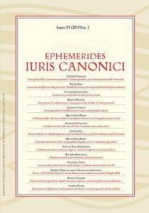 Copertina di 'Ephemerides Iuris Canonici. Anno 59 (2019) n. 1'