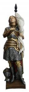 Copertina di 'Statua Santa Giovanna d'Arco in resina dipinta a mano - 45 cm'