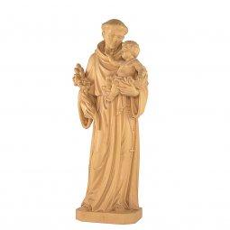 """Copertina di 'Statua sacra in legno di tiglio patinato """"Sant'Antonio di Padova"""" - altezza 80 cm'"""