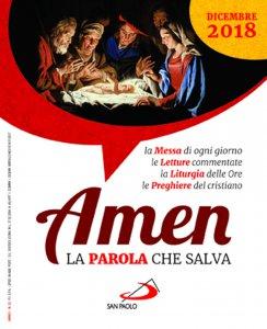 Copertina di 'Amen. La Parola che salva. Dicembre 2018'