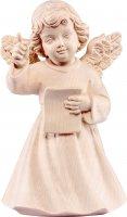 Statuina dell'angioletto direttore d'orchestra, linea da 10 cm, in legno naturale, collezione Angeli Sissi - Demetz Deur