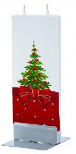 Copertina di 'Candela natalizia in cera con abete 15 x 6 cm'