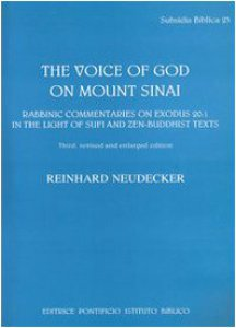 Copertina di 'The voice of God on mount Sinai. Rabbinic commentaries on exodus 20:1 in the light of Sufi and Zen-Buddhist'