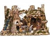 """Villaggio gigante con personaggi dello scultore """"Martino Landi"""" ? Bertoni presepe linea Natale"""