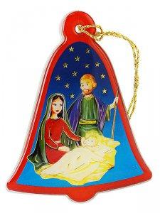 Copertina di 'Campana per albero di Natale in plexiglass con Natività - altezza 7 cm'