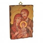 """Icona in legno massello """"Sacra famiglia"""" - dimensioni 14x9,5 cm"""