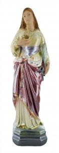 Copertina di 'Statua Sant'Agata in gesso madreperlato dipinta a mano - 30 cm'