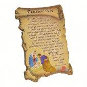 """Quadretto a forma di pergamena con piedino da appoggio """"Bambino Gesù"""" (10 x 7) - Giovanni Paolo II"""