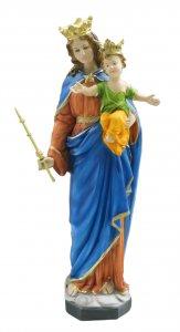 Copertina di 'Statua Maria Ausiliatrice in resina dipinta a mano - 60 cm'